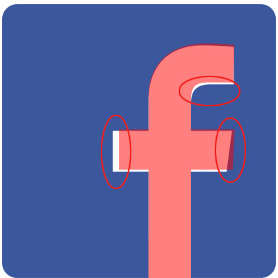 Facebook f neu alt