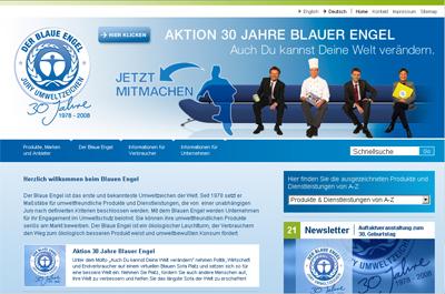 Homepage: Blauer Engel